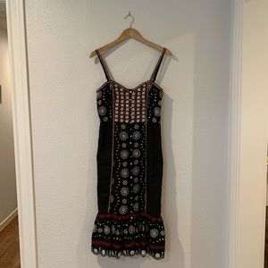 NWT Veronica beard beaded and embroidered dress